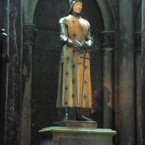 Statue of Jeanne d'Arc in Reims cathedral
