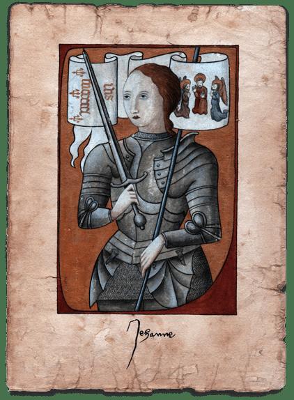 Joan of Arc (Jeanne d'Arc) Collector art