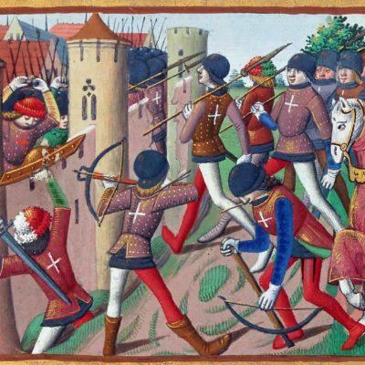 Battle Of Jargeau, Miniature From Vigiles Du Roi Charles VII (1508)