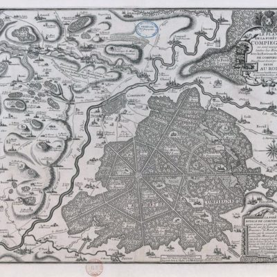Plan of the forest of Compiègne. By Jean Baptiste Liebaux. Date: 1700