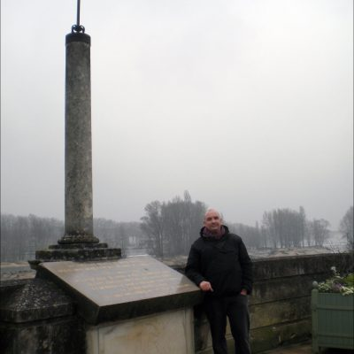 Søren Bie at the place where Jeanne d'Arc liberated Orléans from a siege by the English In 1429 after years of English occupation.