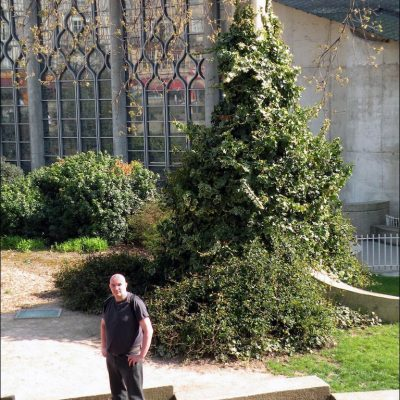 Søren Bie. Rouen France.  The exact location where Jeanne d'Arc was burned at the stake by the English on 30 May, 1431